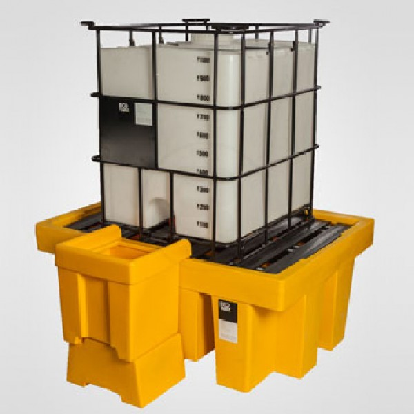 Pallet para contenedor de derrame 1 cubitainers - Pallets por contenedor ...