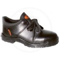 Zapato Cuero Box Suela Pvc Negro Con Puntera