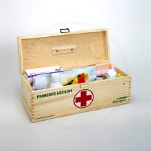 Botiquin De Primeros Auxilios 30 Madera Laqueada