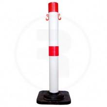 Poste Demarcatorio(Bm) 110Cm  Blanco/Rojo