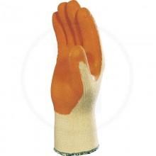 Guante Poli-algodón impreg Látex #10