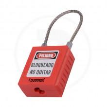 Candado de seguridad con alambre de acer